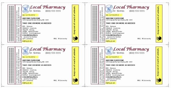 Fake Prescription Label Template Inspirational Gag Prescription Label for Skittles F E5667f635f0845bfdd59 1062×546