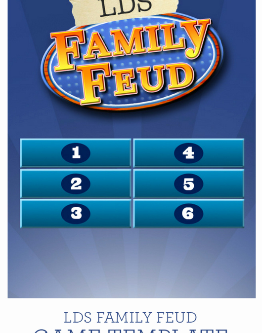 Family Feud Game Template Awesome Lds Family Feud Game Template Church Stuff