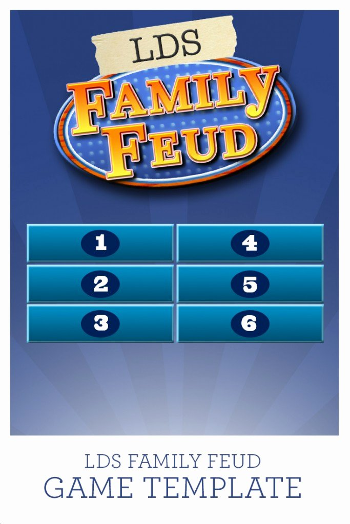 Family Feud Game Template Beautiful Lds Family Feud Game Template Prospering Families
