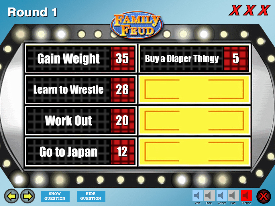 Family Feud Game Template Best Of 4 Best Free Family Feud Powerpoint Templates