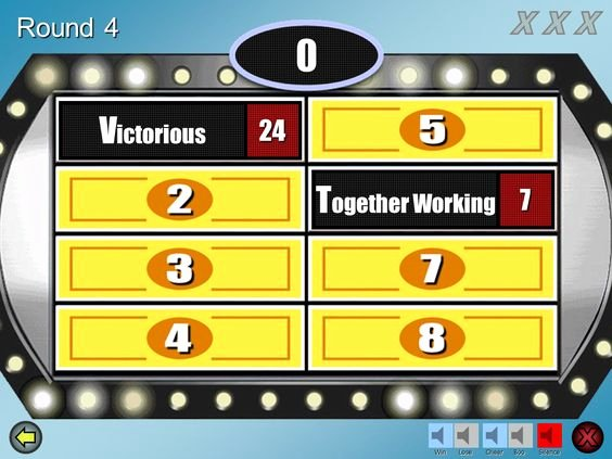 Family Feud Game Template Lovely Family Feud Powerpoint Template Best One I Could Find Great sounds Easy to Use