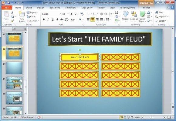 Family Feud Game Template New Family Feud Powerpoint Template