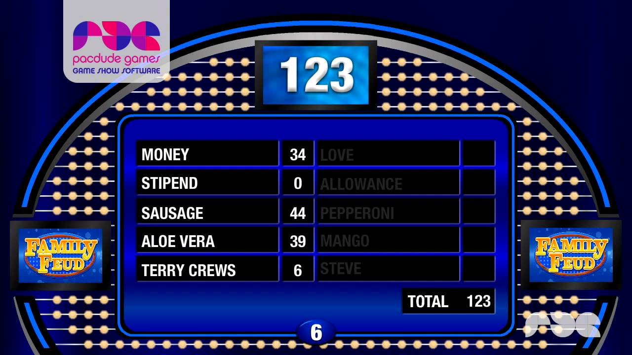 Family Feud Game Template New Family Feud Presentation software 1 0