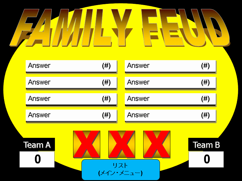 Family Feud Game Template Unique 6 Free Family Feud Powerpoint Templates for Teachers