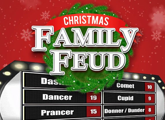 Family Feud Powerpoint Template New Christmas Family Feud Trivia Powerpoint Game Mac and Pc