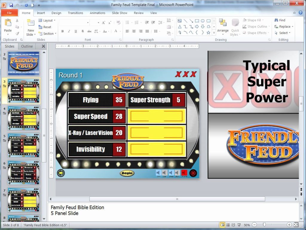 Family Feud Powerpoint Template Unique Family Feud Customizable Powerpoint Template Youth Downloadsyouth Downloads
