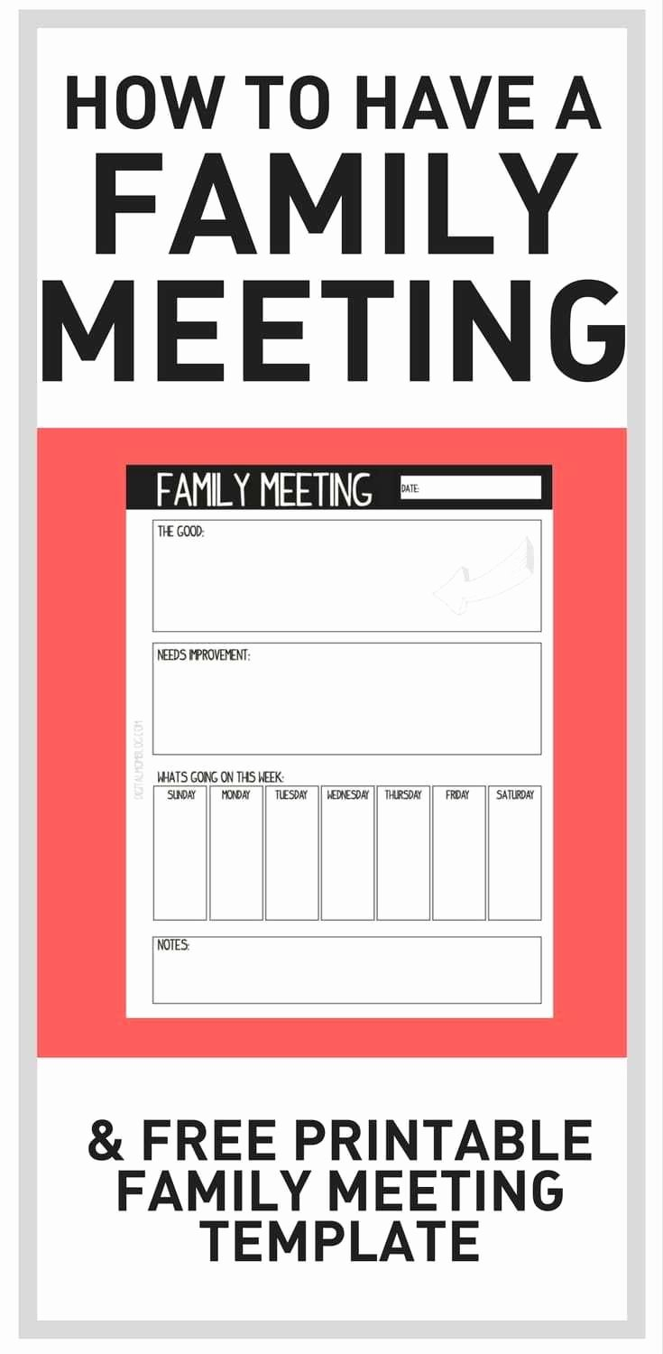 Family Meeting Agenda Templates Beautiful How Family Meetings Have Helped Our Family Connect A Board Of Stuff for Becky