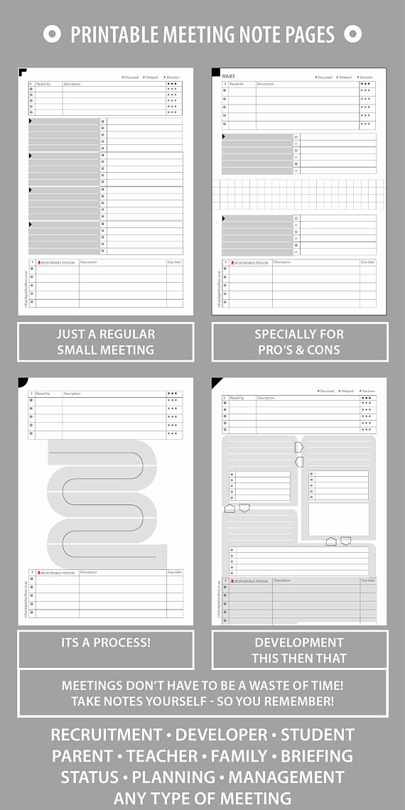 Family Meeting Agenda Templates Fresh Printable Meeting Notes Agenda Record for Small Businesses Families Churches Stay Focused