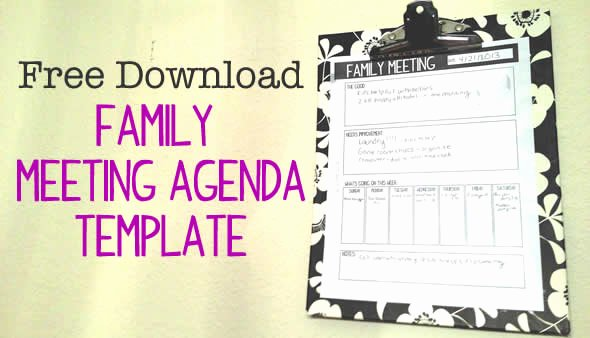 Family Meeting Agenda Templates Unique Family Meetings How they Ve Helped Our Family Connect
