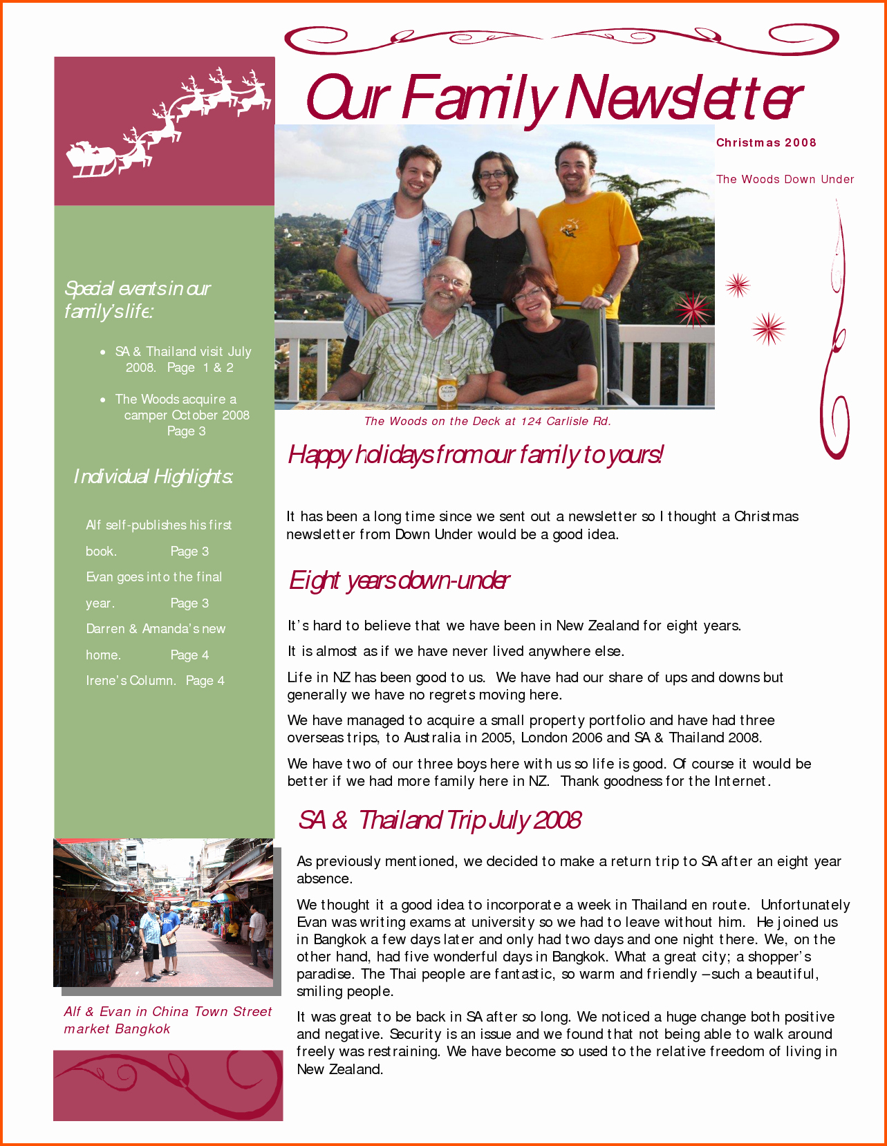 Family Reunion News Letter New Family Newsletter Template – Emmamcintyrephotography