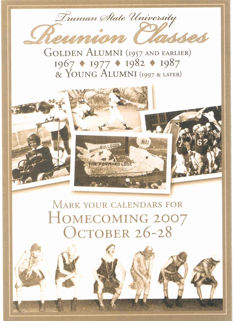 Family Reunion News Letter New News Truman Newsletter October 2007