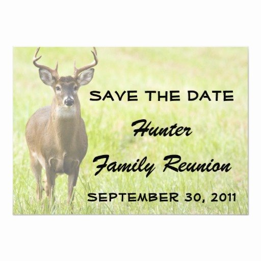 Family Reunion Save the Date Beautiful Hunter Family Reunion Save the Date Announcement