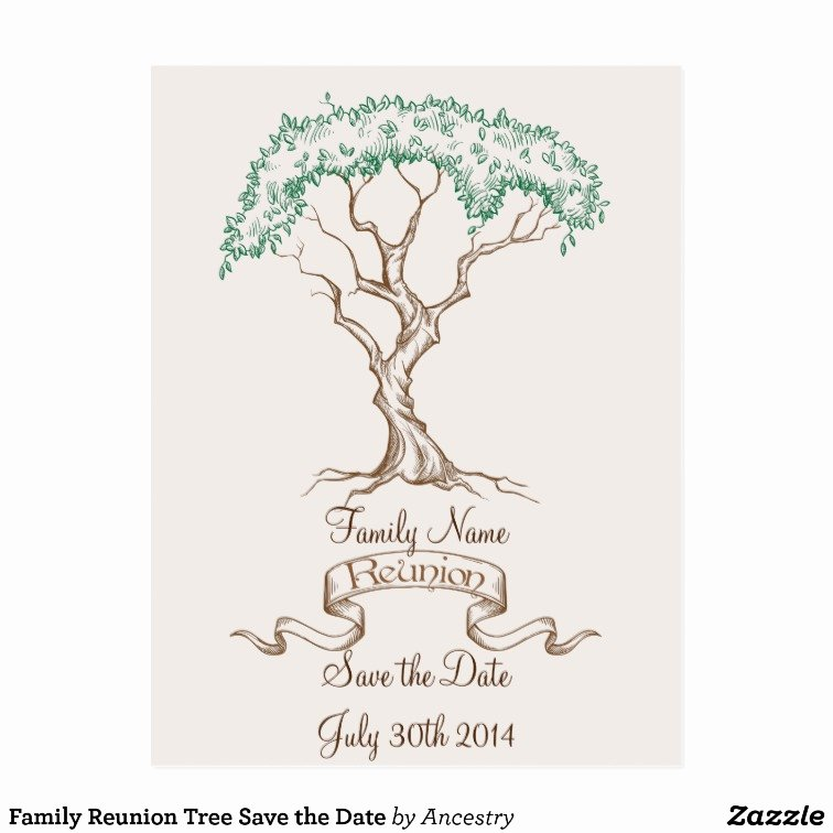 Family Reunion Save the Date Best Of Family Reunion Tree Save the Date Postcard