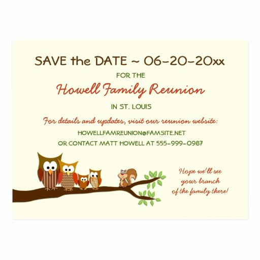 Family Reunion Save the Date Best Of Family Tree Reunion Party Save the Date Postcards