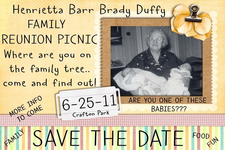 Family Reunion Save the Date Elegant Family Reunion Save the Date