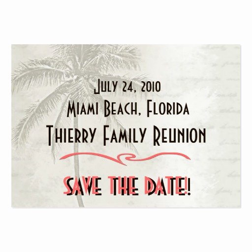 Family Reunion Save the Date Elegant Tropical Save the Date Family Reunion Business Card