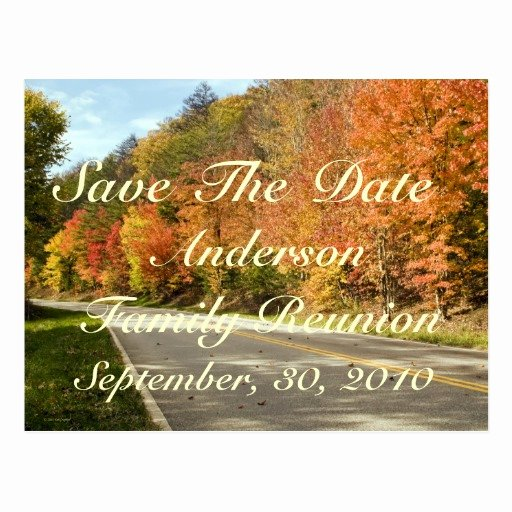 Family Reunion Save the Date Fresh Family Reunion Save the Date Postcard