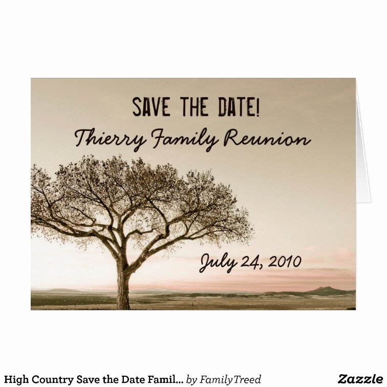 Family Reunion Save the Date Fresh High Country Save the Date Family Reunion Card