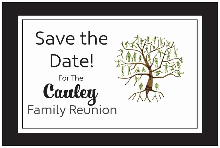 Family Reunion Save the Date Luxury 50 100 Personalized Family Reunion Save the Date Post