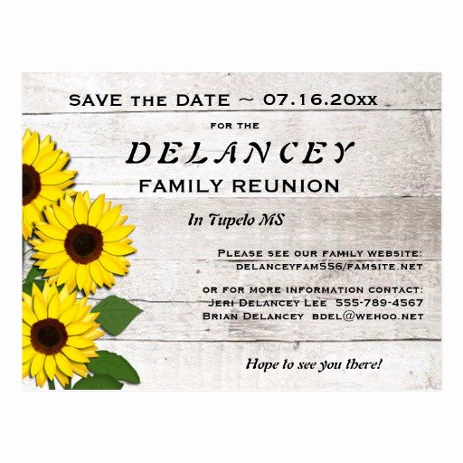 Family Reunion Save the Date Luxury Rustic Save the Date Family Reunion Postcard