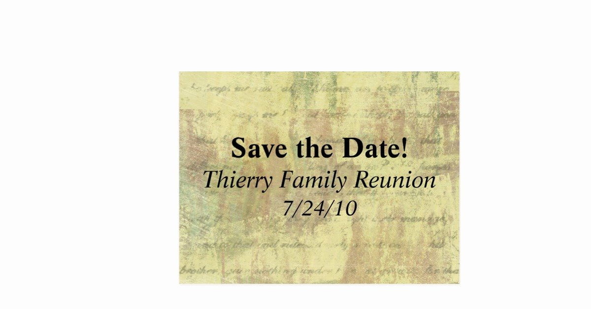 Family Reunion Save the Date Luxury Save the Date Antique Shabby Family Reunion