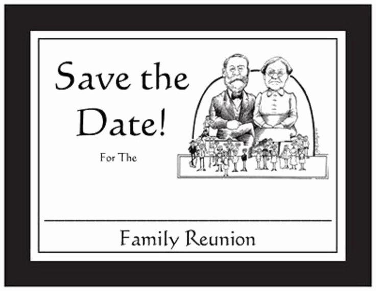 Family Reunion Save the Date New 20 Save the Date Family Reunion Announcement Post Cards
