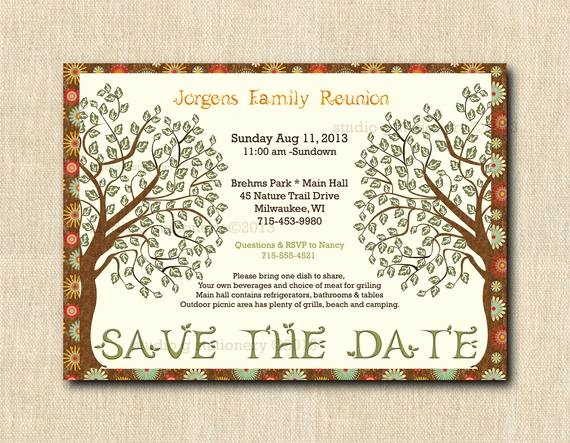 Family Reunion Save the Date New Items Similar to Family Reunion Save the Date Cards with