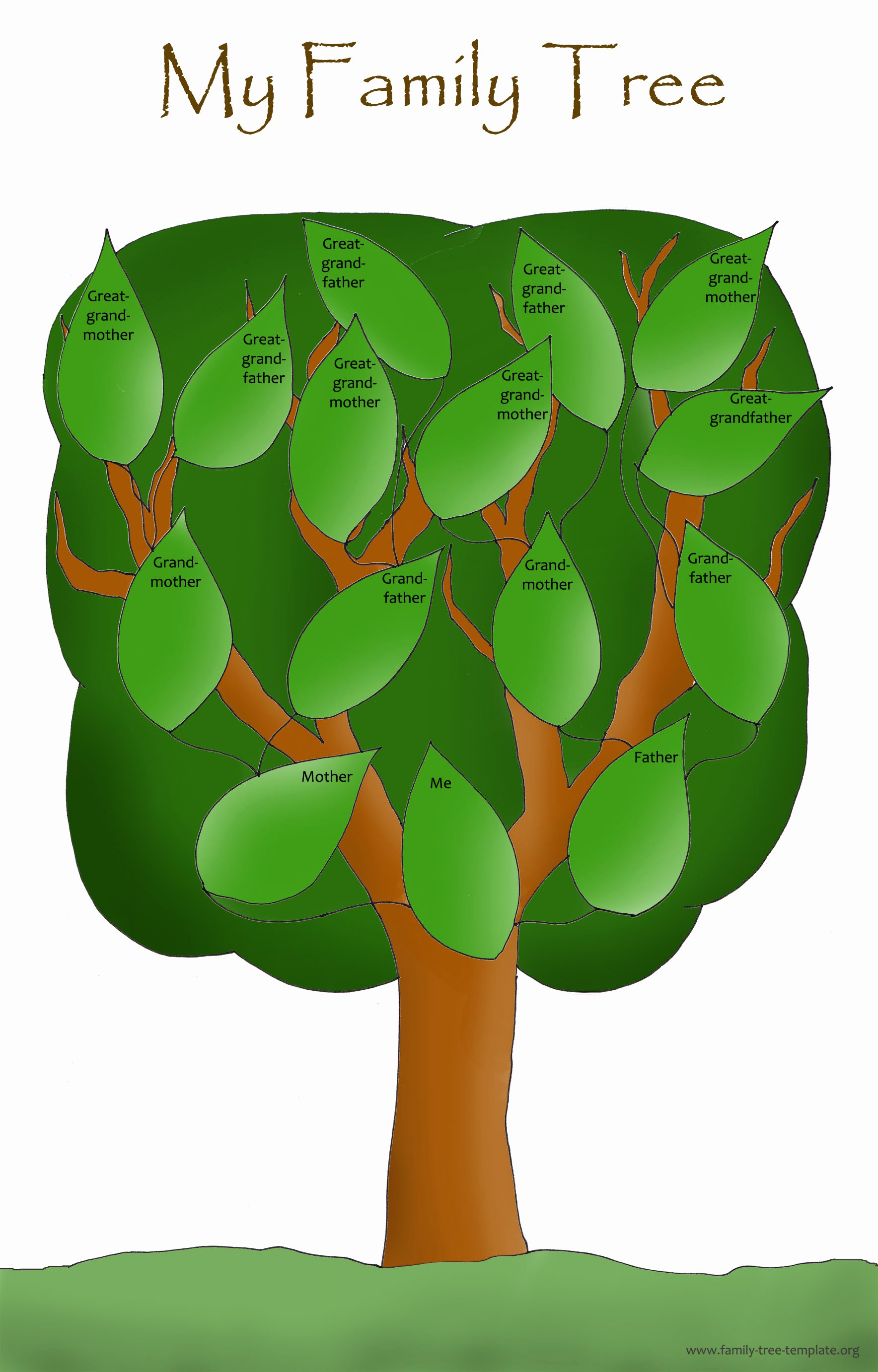 Family Tree Clip Art Templates Luxury Blank Family Tree for Kids Clipart Best