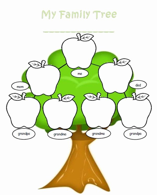Family Tree Clip Art Templates New Family Tree Outline Clipart Best