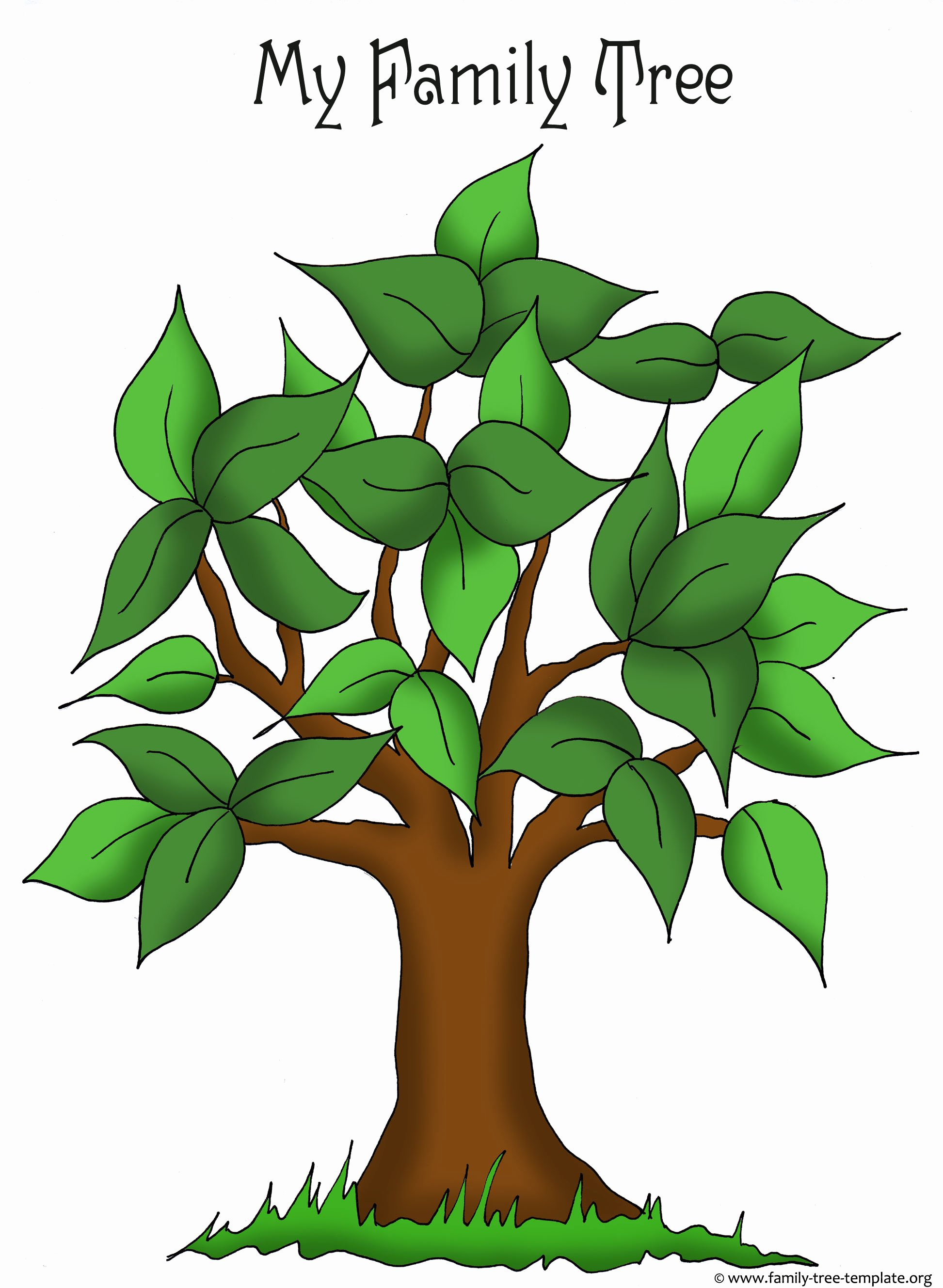 Family Tree Clip Art Templates New Family Tree Templates & Genealogy Clipart for Your