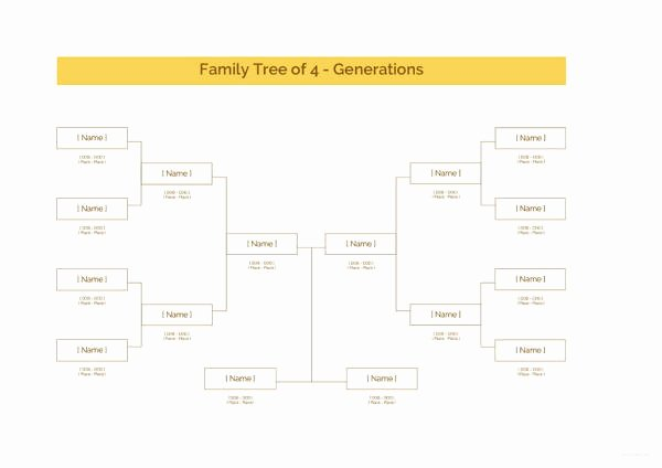 Family Tree Microsoft Word Fresh 34 Family Tree Templates Pdf Doc Excel Psd