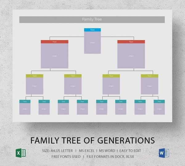 Family Tree Microsoft Word Fresh Blank Family Tree Template 32 Free Word Pdf Documents Download