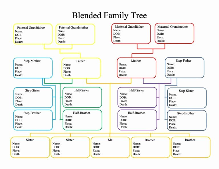 Family Tree Microsoft Word Fresh Family Tree Template Word