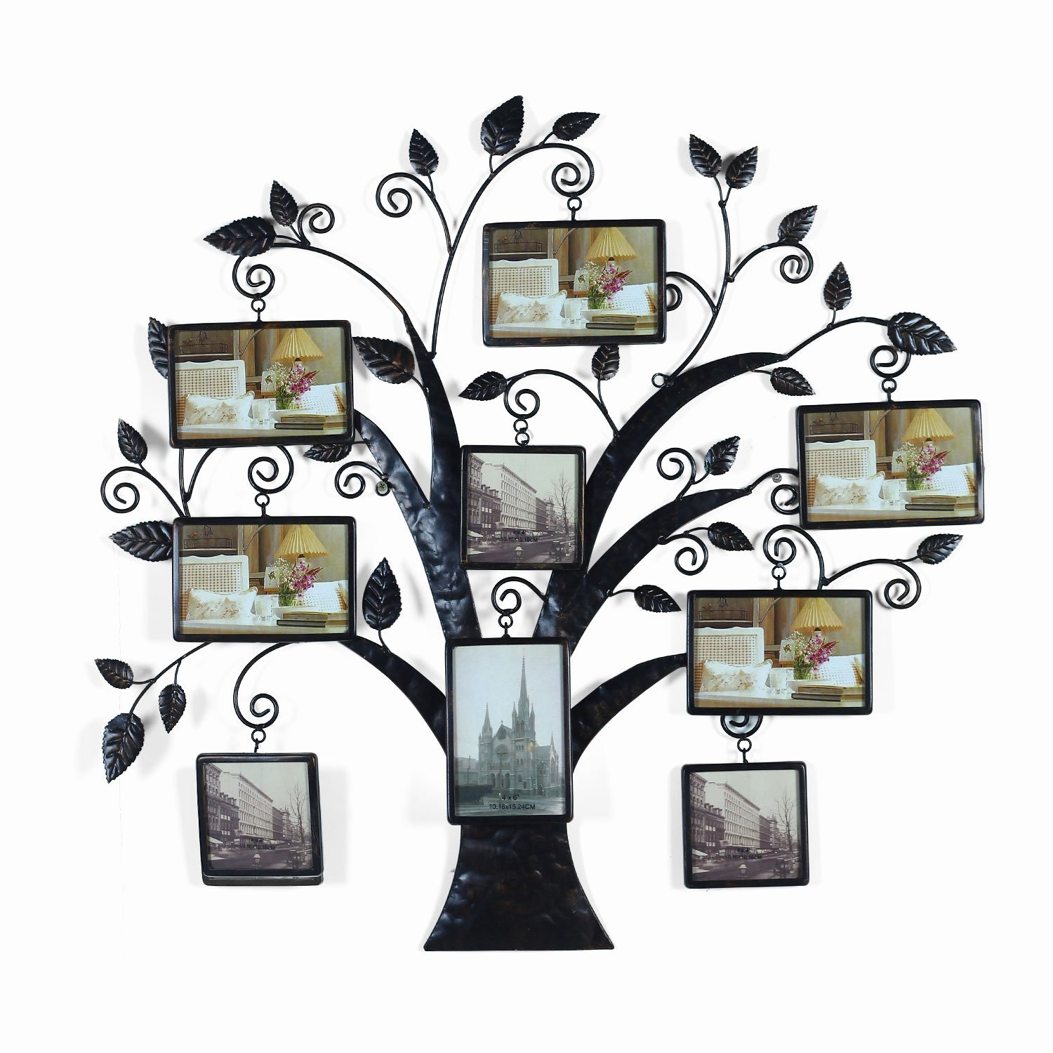 Family Tree Photo Collage Awesome Adeco Brown Black Decorative 9 Opening Collage Bronze Bronze Iron Metal Wall Haning Family Tree