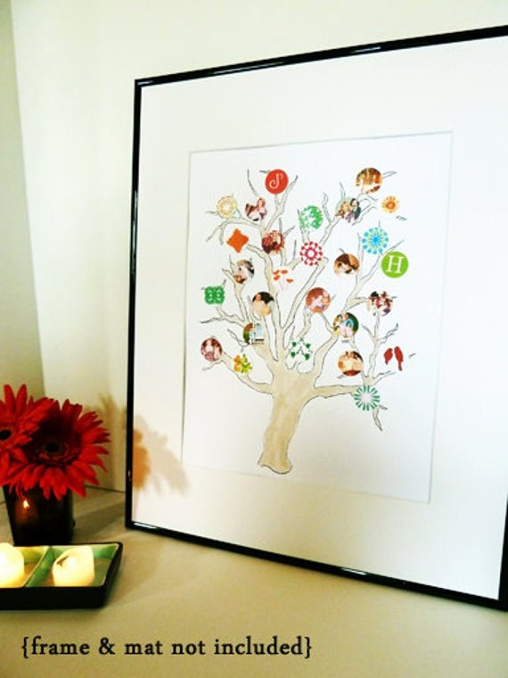 Family Tree Photo Collage Elegant Items Similar to Paper Collage Family Tree Summer On Etsy