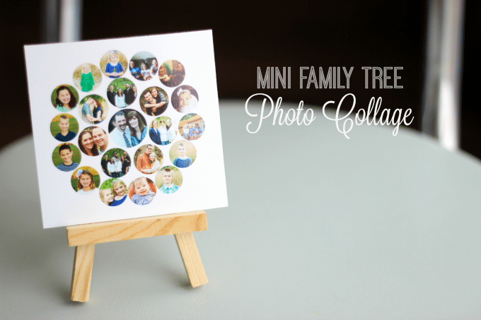 Family Tree Photo Collage Elegant Mini Family Tree Collage for Mother S Day
