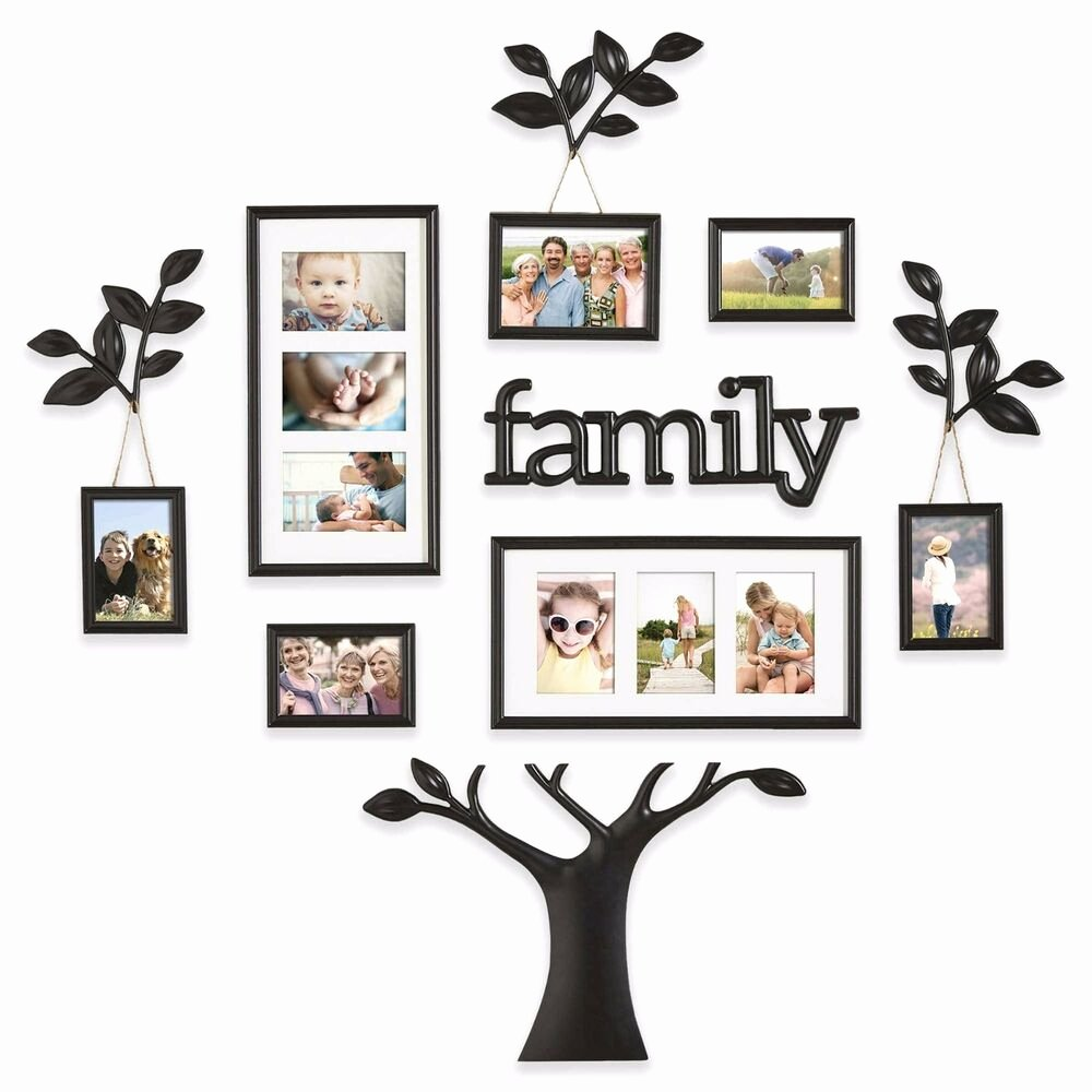 Family Tree Photo Collage Inspirational 12 Piece Collage Picture Family Tree Frame Set Black Wall Art Home Decor