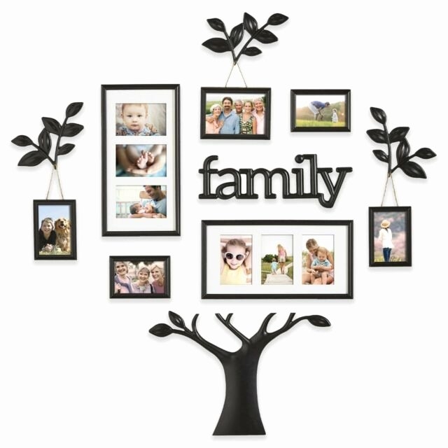 Family Tree Photo Collage Lovely Family Tree Frame 13pc Black Wall Set Picture Collage Home Decor Gift
