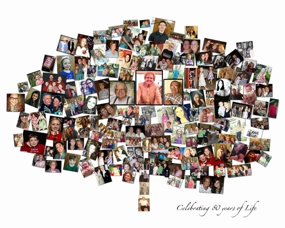 Family Tree Photo Collage Unique Wall Family Tree Family Tree Art Family Tree Sign Family Tree