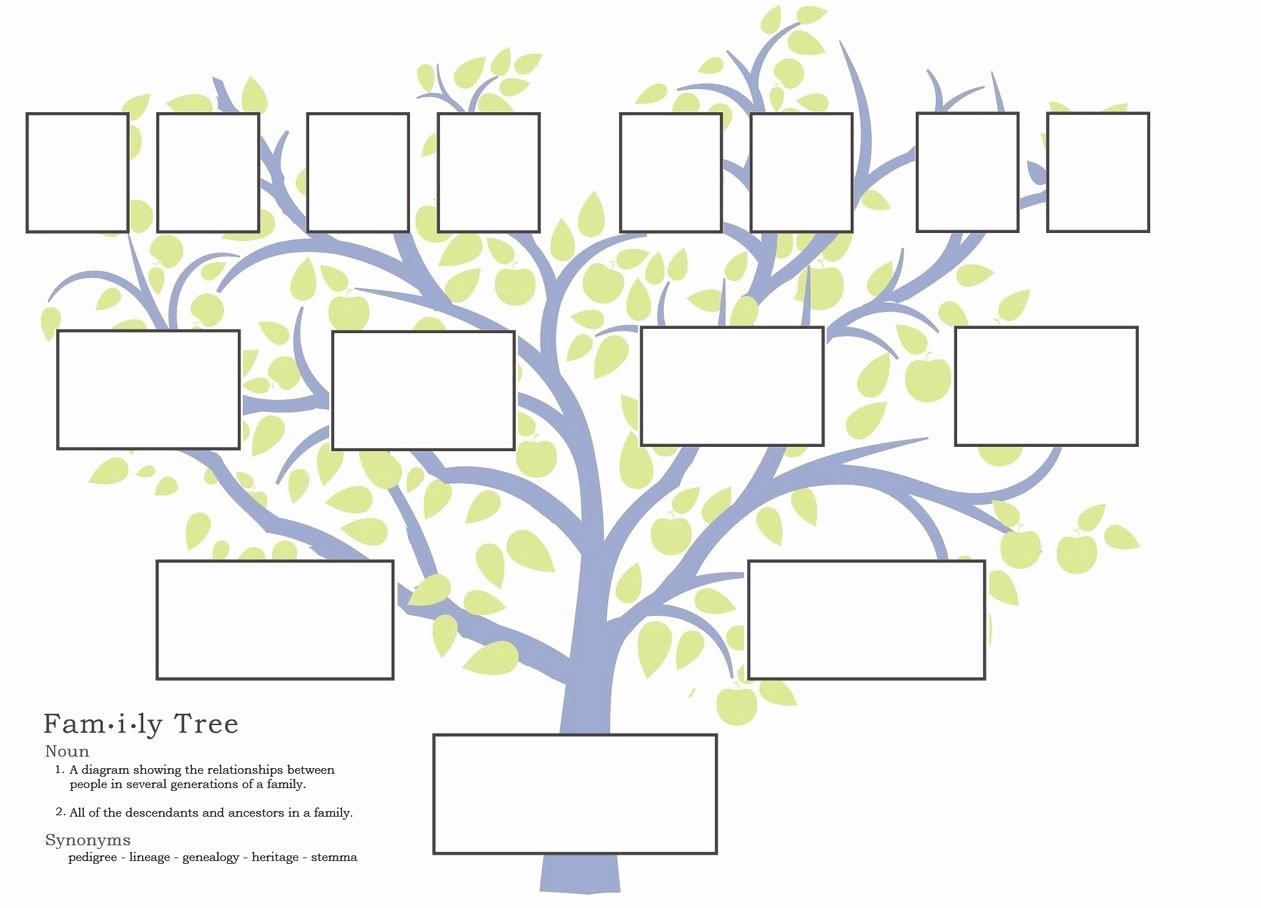 Family Tree Template Google Docs Beautiful Free Family Tree Template to Print Google Search