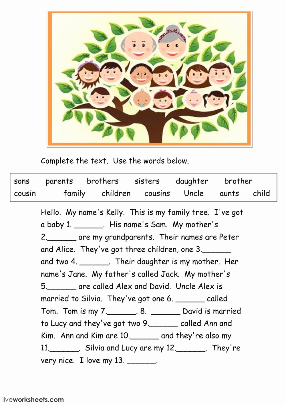 Family Tree Worksheet Pdf Beautiful the Family Online Exercise You Can Do the Exercises Online or the Worksheet as Pdf