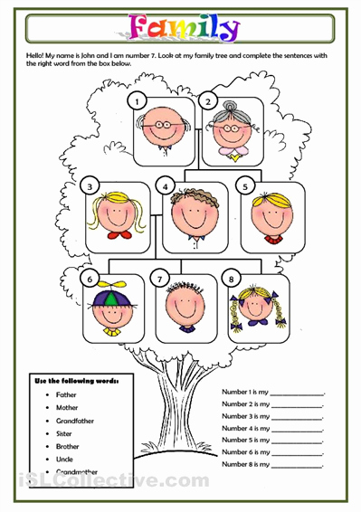 Family Tree Worksheet Pdf Fresh Family Worksheet Free Esl Printable Worksheets Made by Teachers Englanti