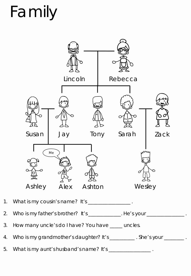 Family Tree Worksheet Pdf Inspirational Esl Worksheets and Activities for Kids Class Crafts