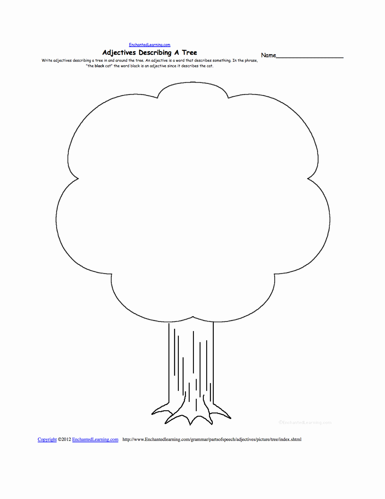 Family Tree Worksheet Pdf Unique Trees at Enchantedlearning