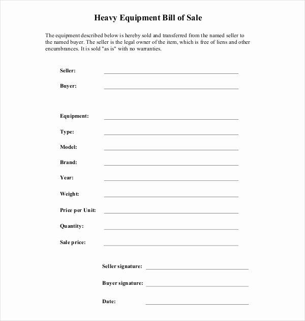 Farm Equipment Bill Of Sale Best Of Free 7 Sample Equipment Bill Of Sale forms