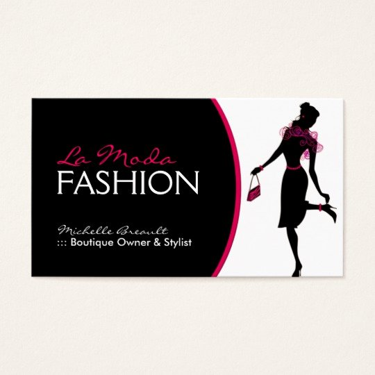 stylish fashion designer business card