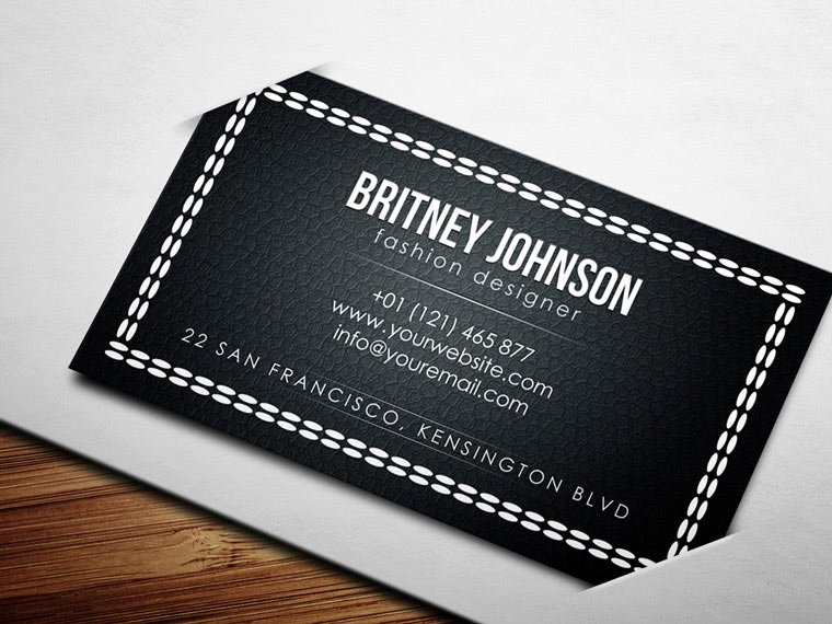 Fashion Design Business Cards Best Of Fashion Designer Business Card Psd Free Download
