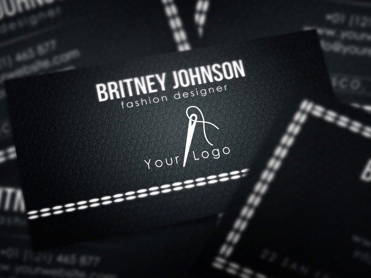 Fashion Design Business Cards Fresh Fashion Designer Business Card Psd Free Download