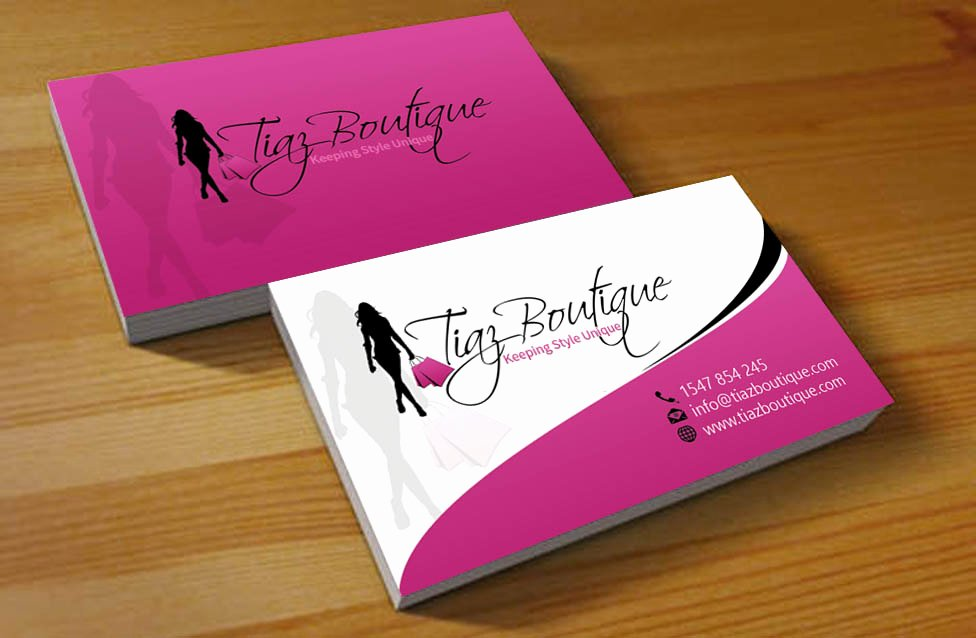 Fashion Design Business Cards Inspirational Business Card Design for Tiaz Boutique by Hardcore Design
