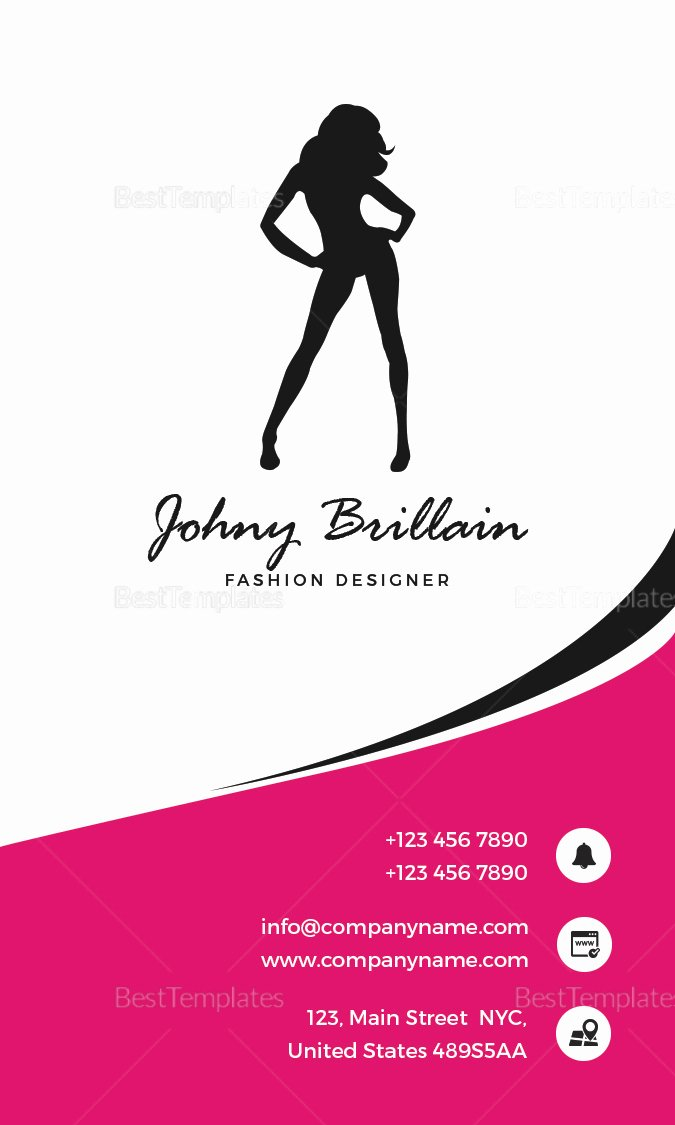 Fashion Design Business Cards Lovely Fashion Designer Business Card Design Template In Psd Word Publisher